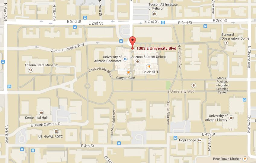 Map Of The University Of Arizona.Information For Incoming Students Step Up